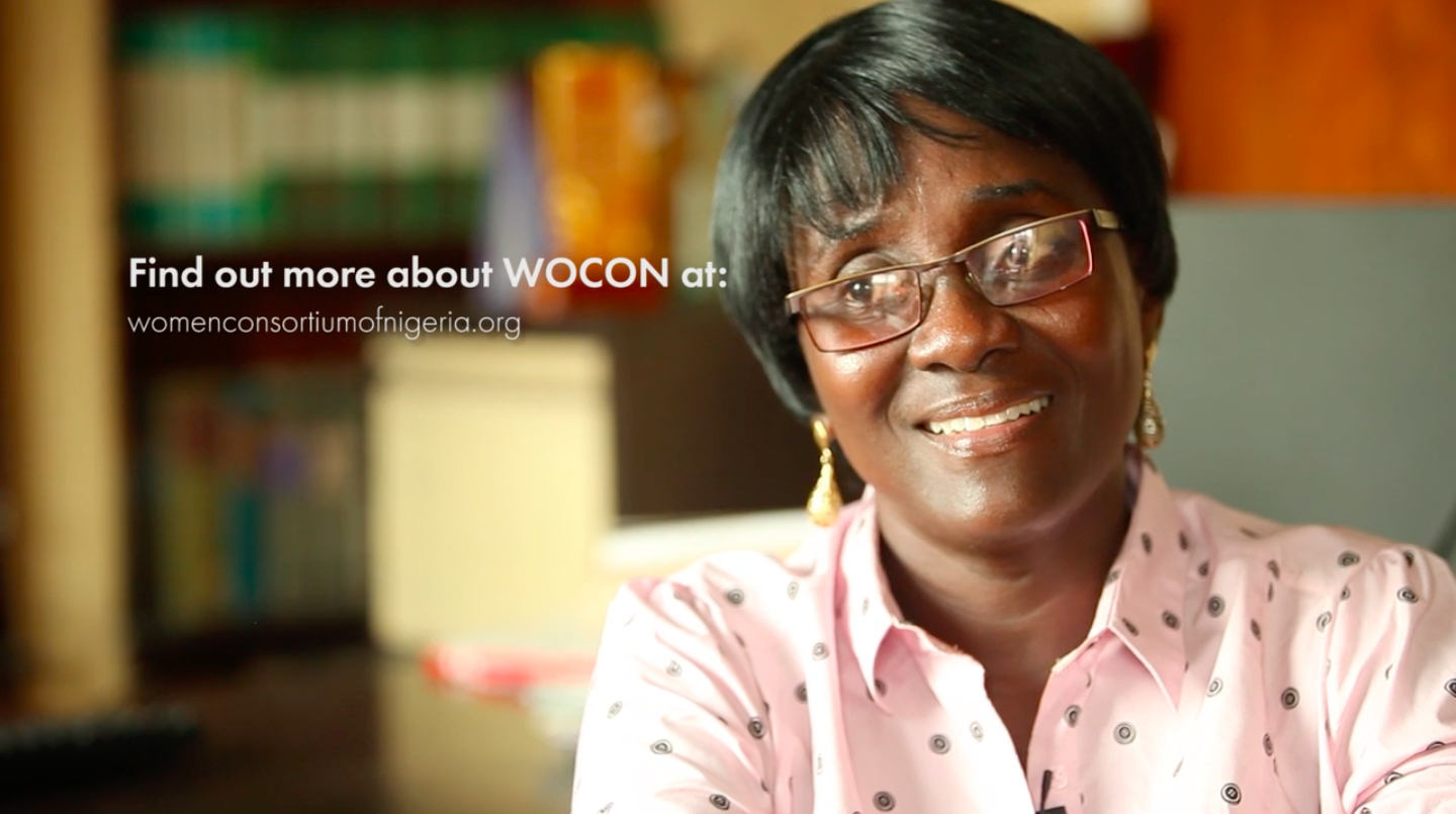 Founded and registered by Late Chief Olabisi Olateru-Olagbegi, The Women Consortium of Nigeria (WOCON) is a non governmental, not for profit making, non-partisan and non-religious Organization committed to the enforcement of Women and children's rights and the attainment of equality, development and peace. WOCON holds a United Nations Special Consultative Status. WOCON has been engaged in various programs and activities for the enforcement of the rights of women and children particularly the Girl-child in Nigeria since its inception in 1995.