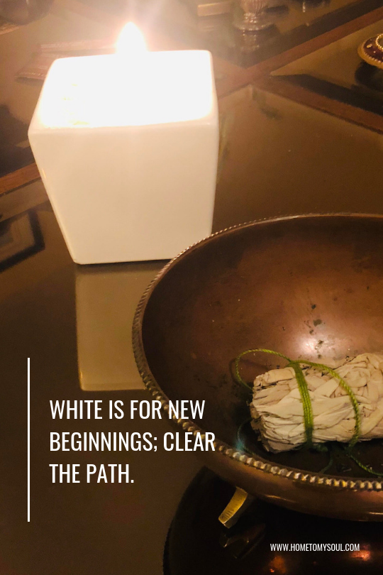 A New Years Blog Post - With a bundle of white sage and a white jasmine scented candle, manifesting a new adventure should be positively charged, divinely guided and blessed. But first, you have to let go of the old.