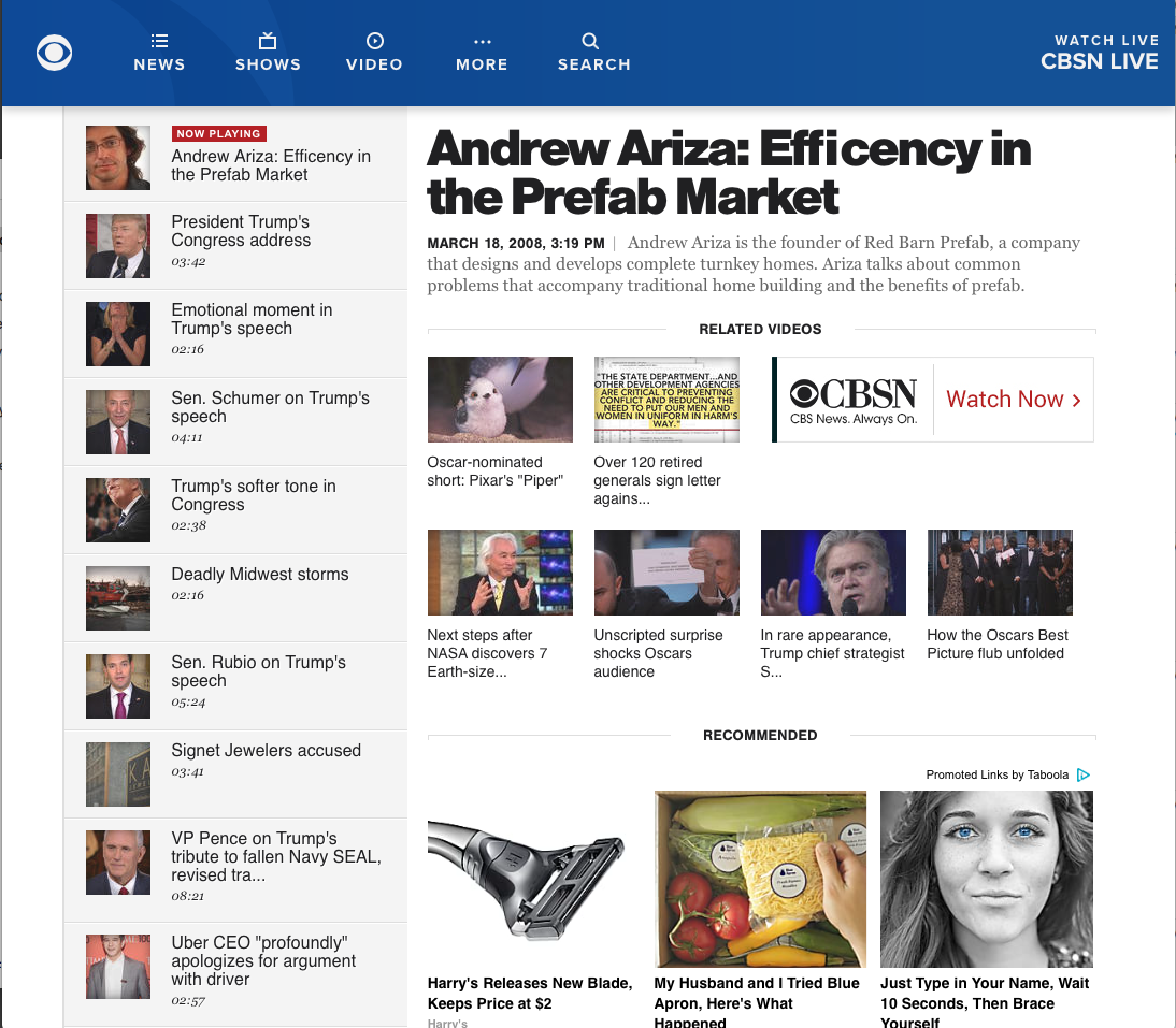 Andrew Ariza: Efficency in the Prefab Market