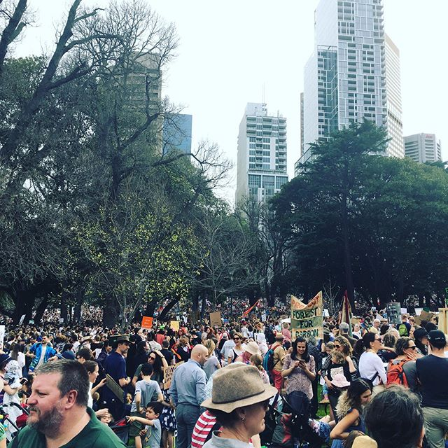 💥 CLIMATE STRIKE 💥  Apparently there are over 150,000 of us here in Melbourne. ARE WE LOUD ENOUGH?! #climateaction #climatestrike