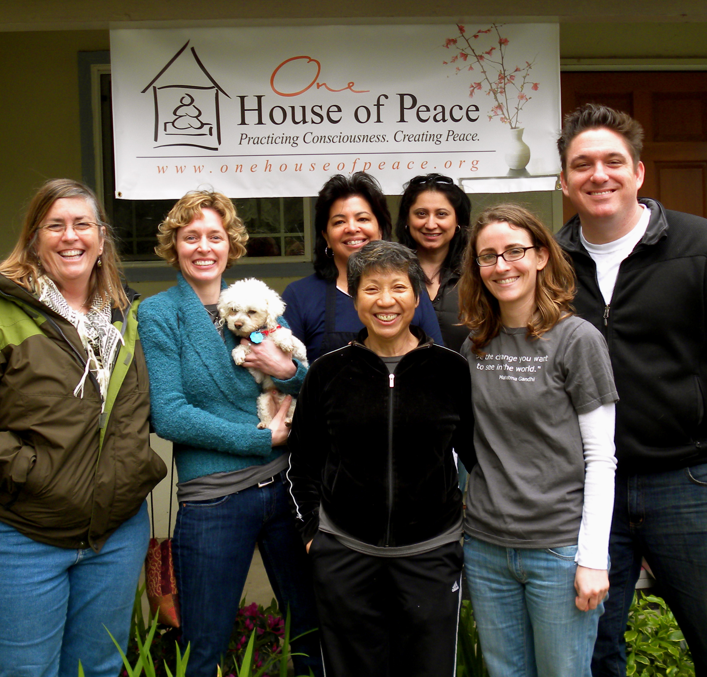 Folks from the One House of Peace community in 2010 in Sacramento, CA.