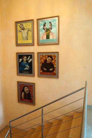 Stairwell at     Villa Boffa  , Italy.
