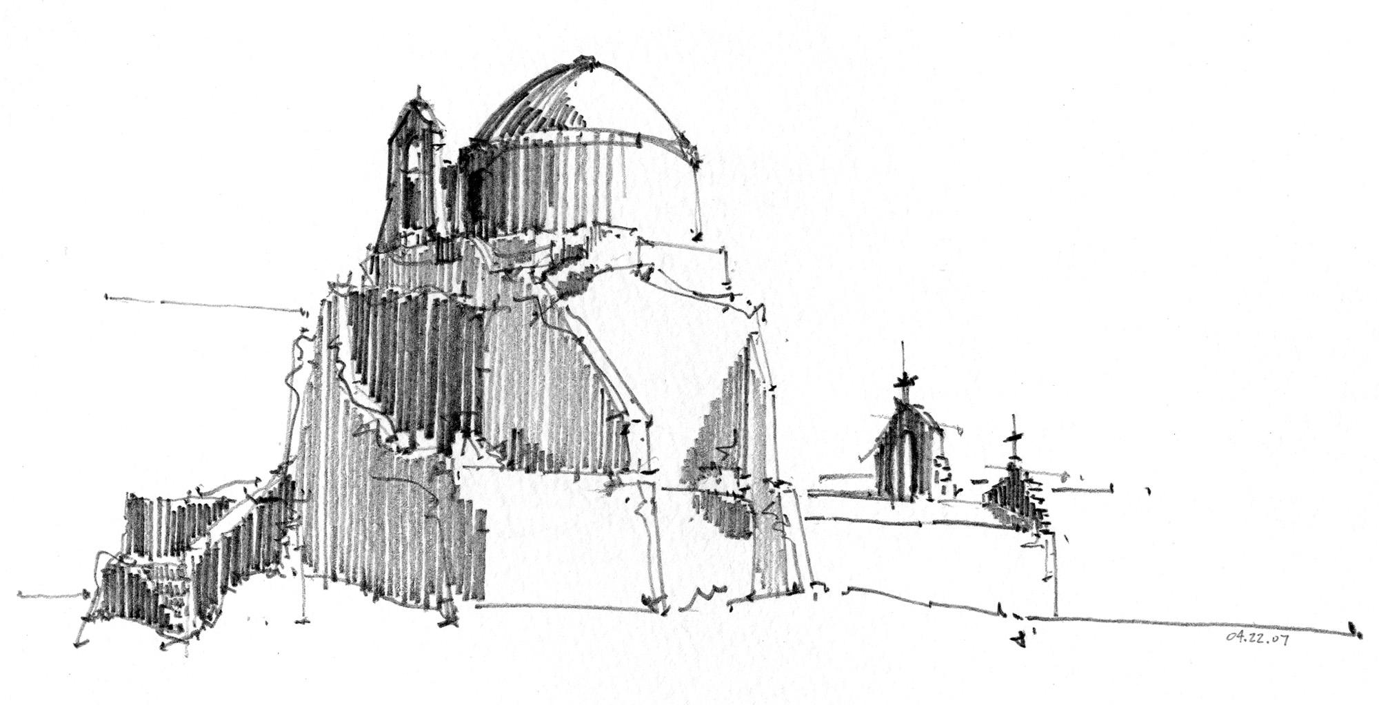 Paraportiani church in Mykonos, Greece