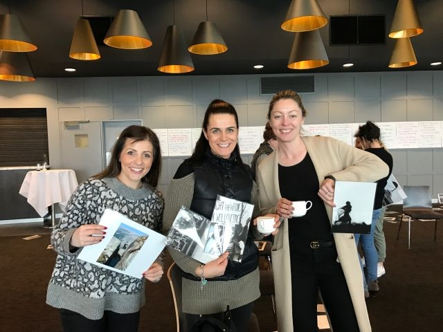 WOW participants Tina Garkinis and Sali Bogdanovic with Loren Tairi, People and Culture Manager, VIC/SA/TAS & NZ, John Holland Group Pty Ltd.