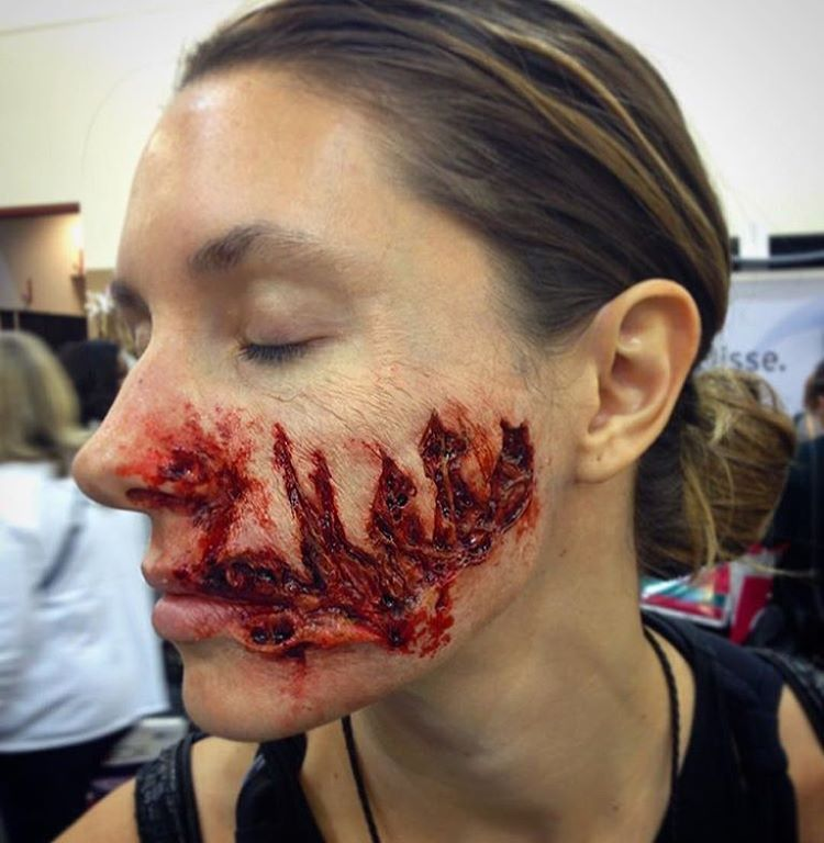 Application/Makeup by Hannah Sherer for PTM Merchandise and International Makeup Artist Trade Show (IMATS) Demo. Sculpt by PTM.