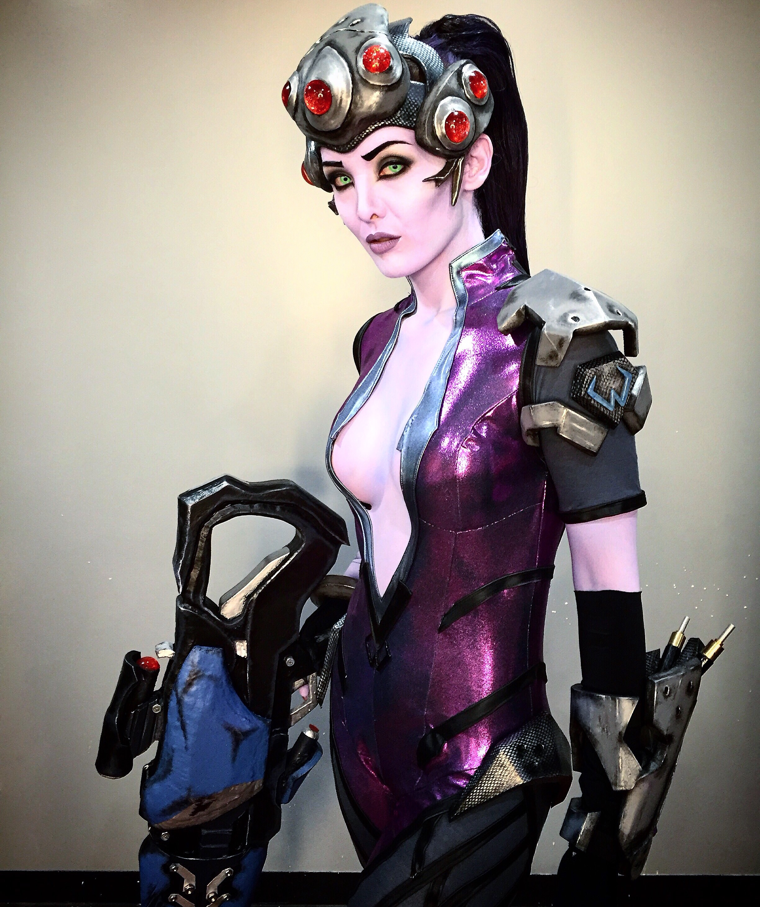 "Overwatch ""Widowmaker"" character design.   Makeup Artist: Hannah Reed. Wardrobe by Alex Waldron. Hair by Brooke Barker.   Designed for Tinsley Transfers Social Media."