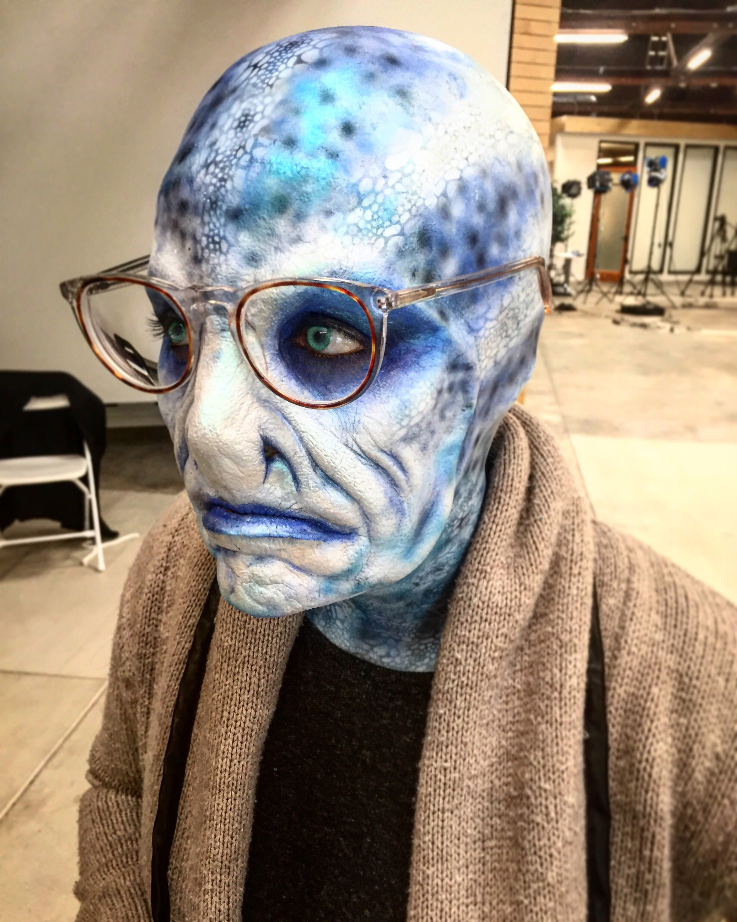 Old Lady Alien For Peta.   Makeup Artist: Hannah Reed