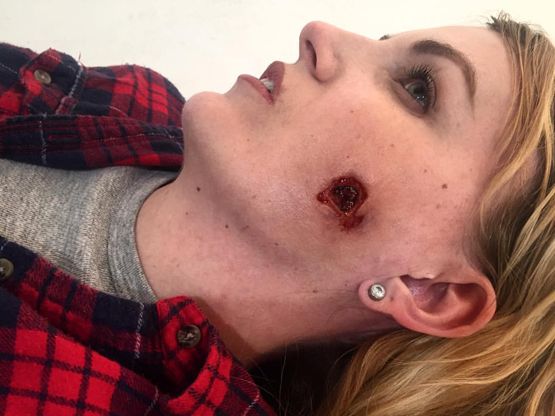 Clean bullet hole for PTM  Makeup Artist: Hannah Reed