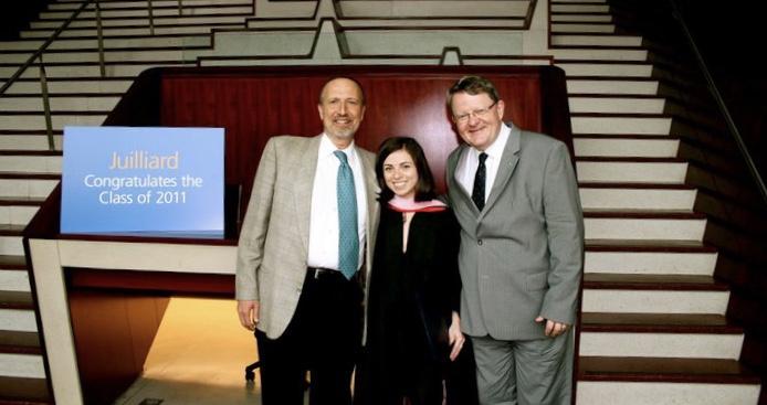 Juilliard Masters Graduation with Dean Ara Guzelimian and Professor Matti Raekallio