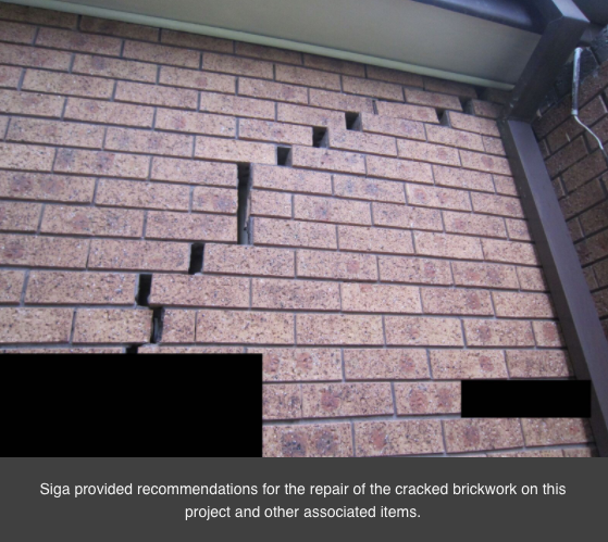 Repairs on Cracked Brickwork