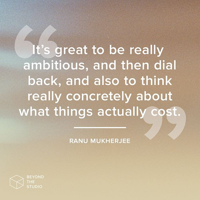 🚀 As artists, our job is to imagine something impossible, and then figure out how to make it a reality! Hear more about how @ranumukherjee approaches commissioned projects this week on the podcast.