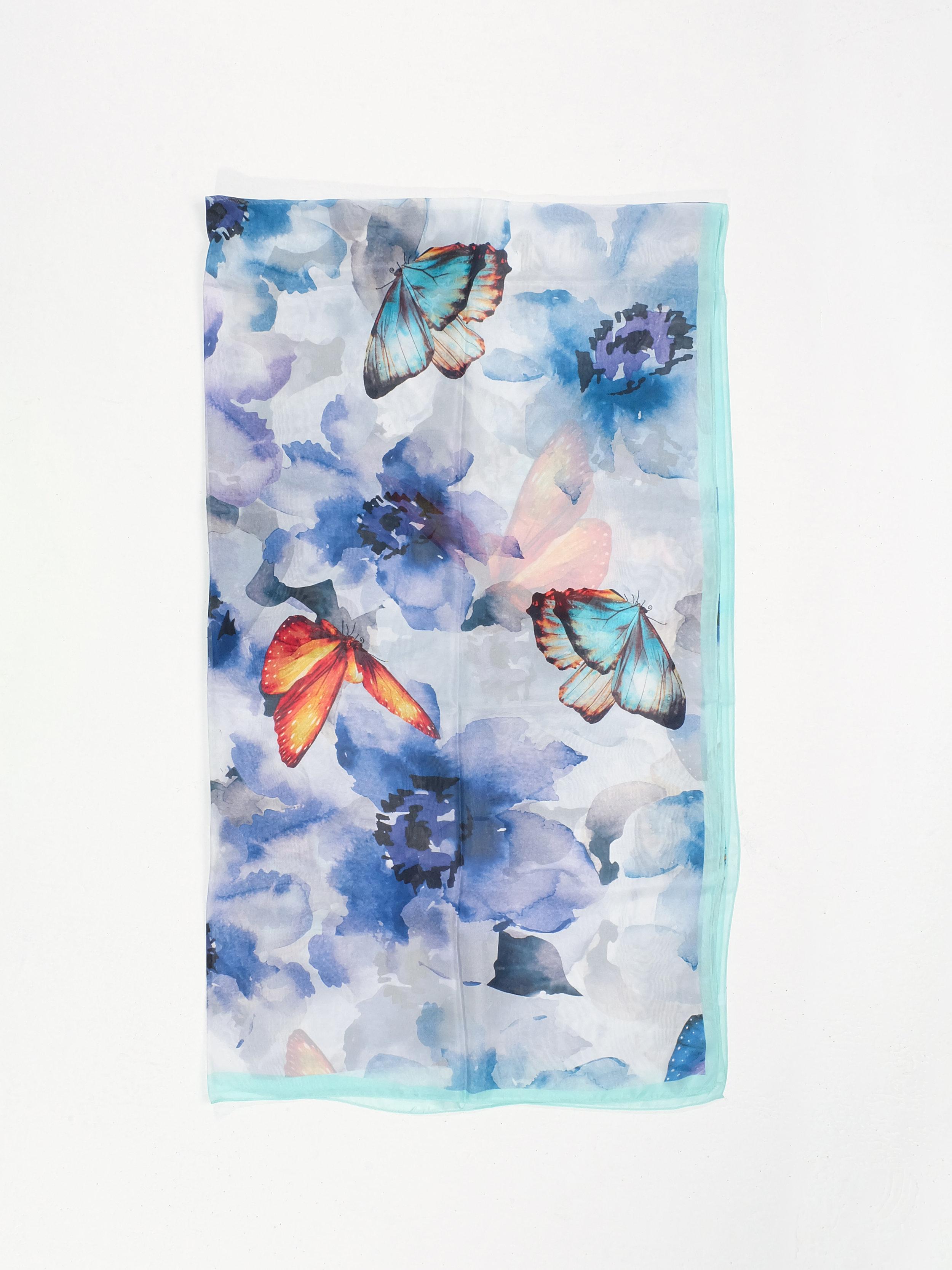 A Flutter with Friends (Blue) - 196x112cm