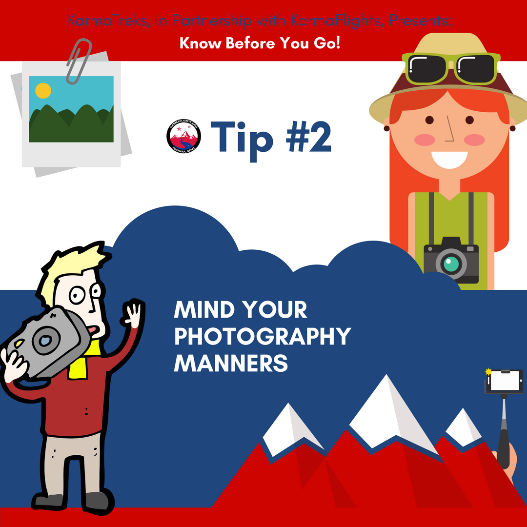 Tip #2  You're going about your daily business, mowing the lawn and taking the trash out, when suddenly a group of strangers with big cameras starts photographing you. Feels weird right? Intrusive? While some people don't mind at all, and others actively enjoy having their photo snapped, others really really don't! Your best bet is simply to ask before you snap, and if someone looks uncomfortable or says no - respect their right not to have their image taken. No photo is so important that it's worth ruining someone's day over.
