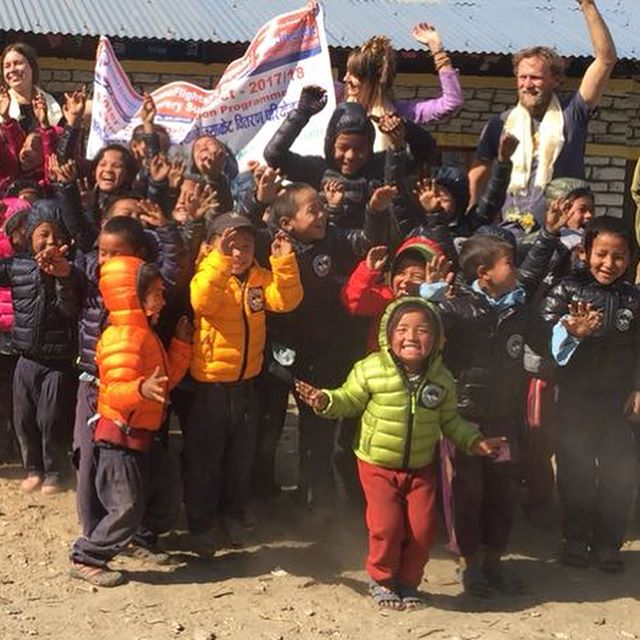 Our distribution teams reached their first school today, on the long trail north to Sridibas in Northern Gorkha. So much pure, joyous excitement, at having a new warm winter coat! Your support made this possible! As these schools have no road access, we have organized pack mules and porters, to transport the jackets for several days over rugged terrain, to serve these remote-lying communities. ___________________________________________ @karmatreks #nepalngo #nonprofit #humanitarian #childrenfirst #winterclothes #winterclothesdrive #bethechange #globalcitizen #makeadifference #gorkha #sridibas #educationalsupport #manaslu #manaslucircuit #manaslucircuittrek