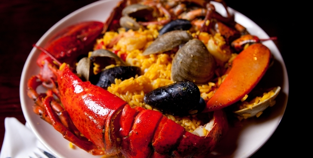 SPECIAL:Seafood Paella  (with Rice & Lobster)