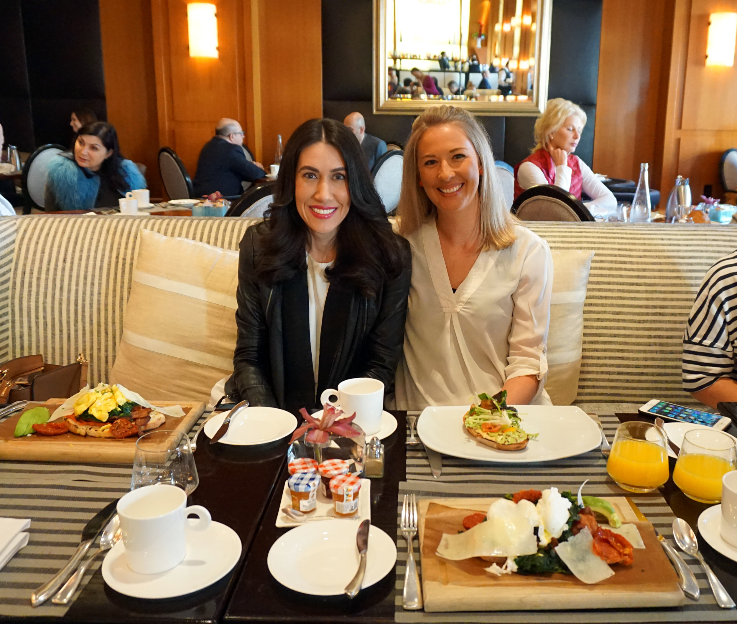 Source:  Lisa Raciti // Brunching at the Beverly Wilshire Hotel.