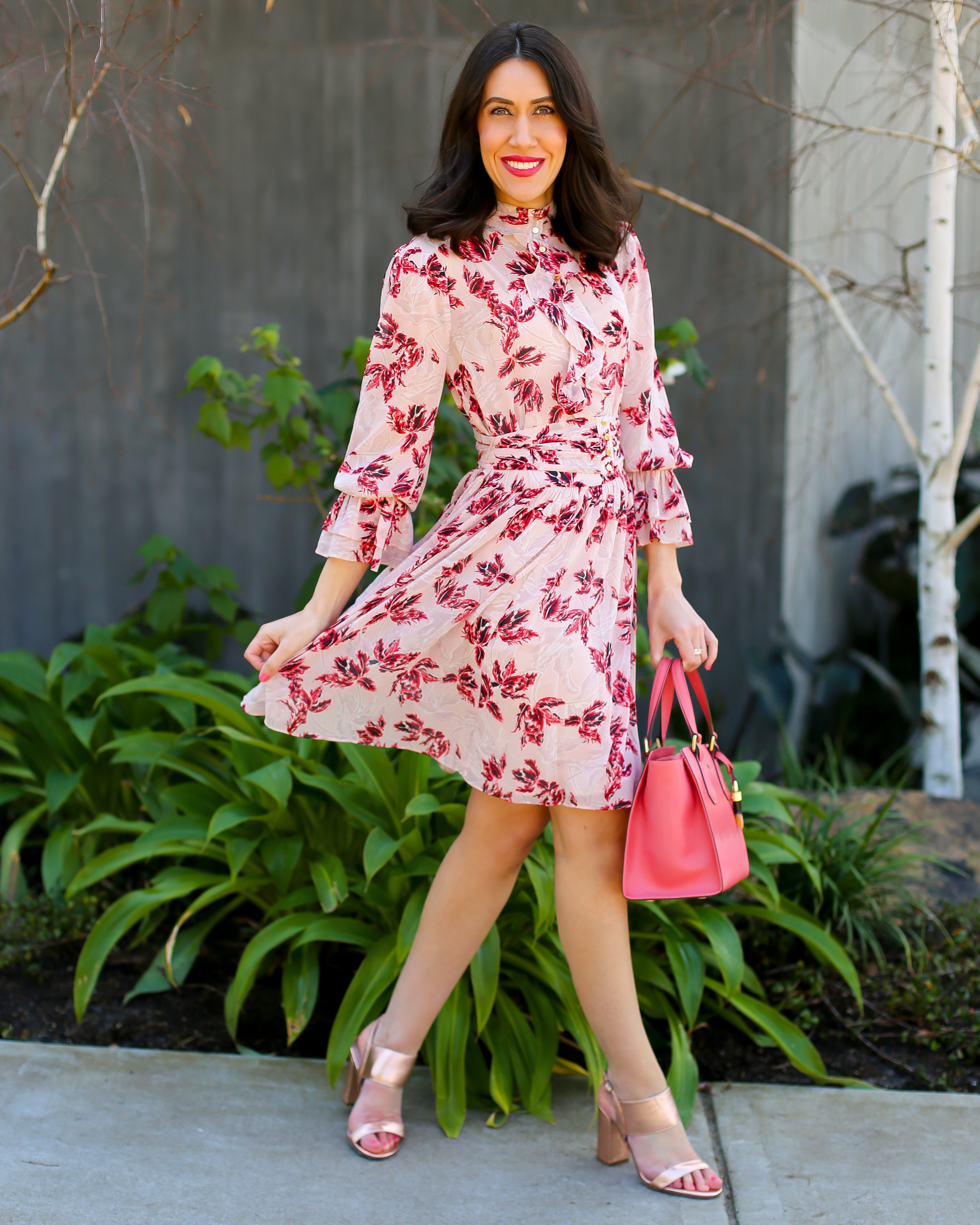 Lisa wears - Dress  by  Saba , Shoes  by  Mollini , Bag  by  Braun Buffel  (all available at  Collins234 )