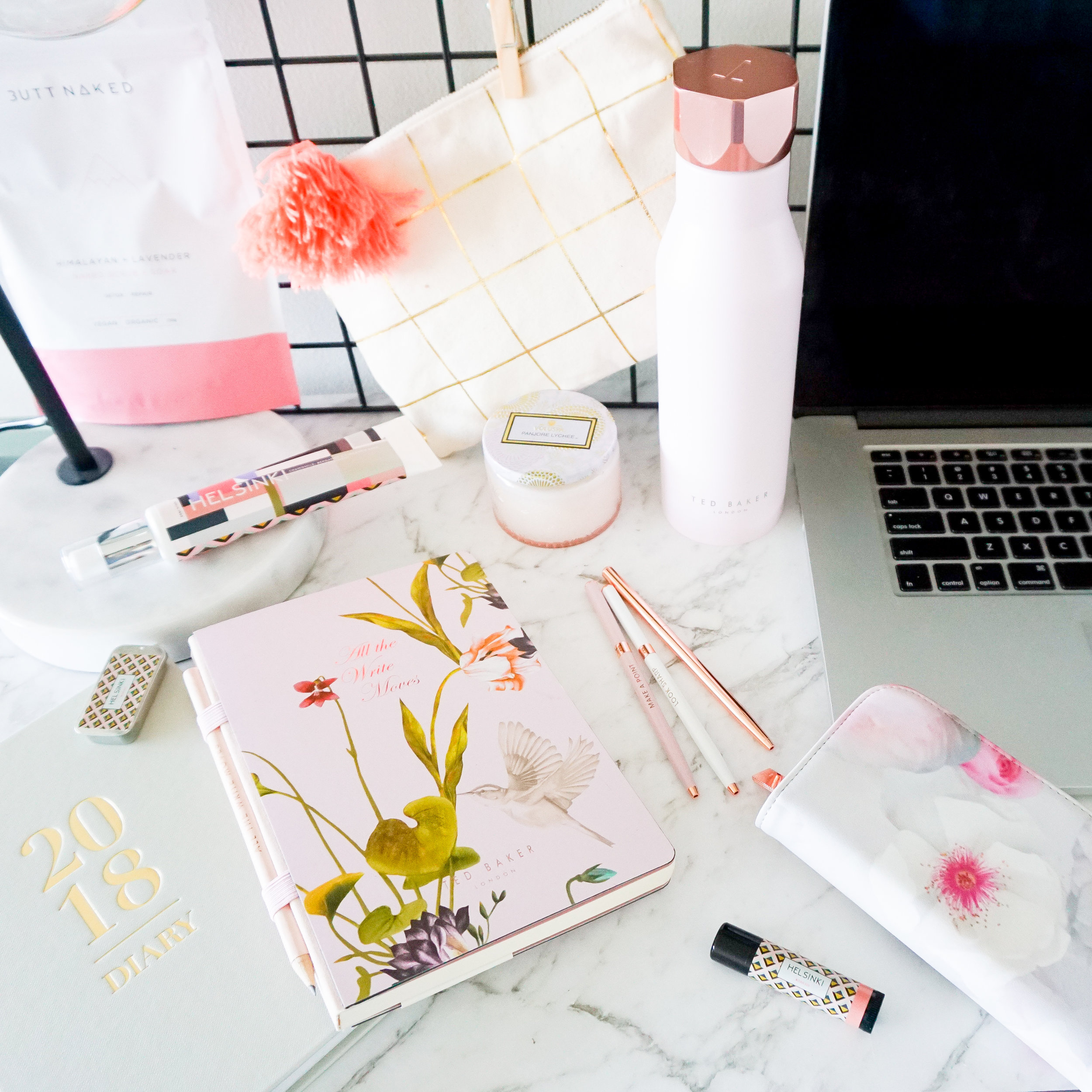 Desk essentials from  Dymocks 'Art Of Giving Store' .