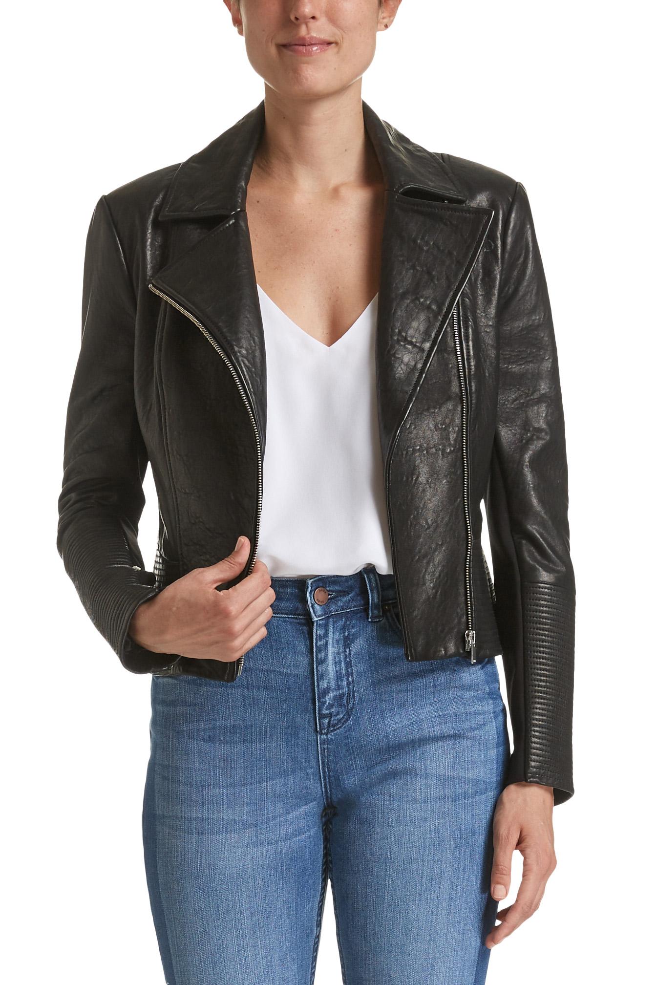 Saba Lilia Leather Biker Jacket