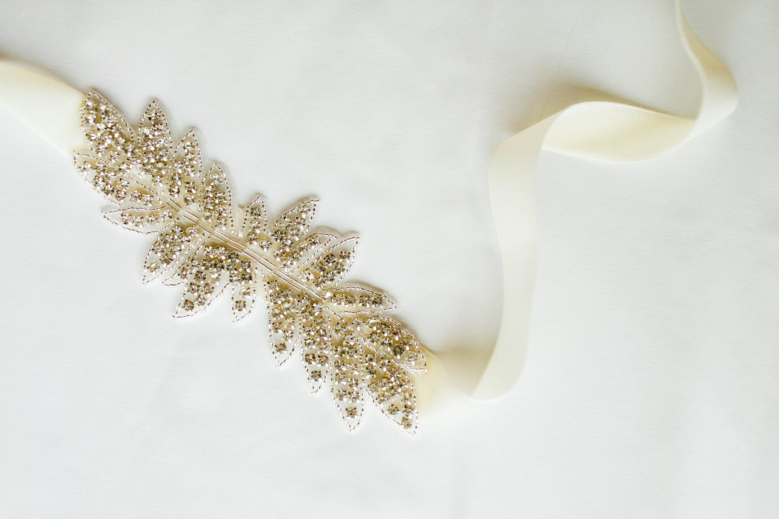 DIY Bridal belt by Grace Niu, photo by  Mayden Photography