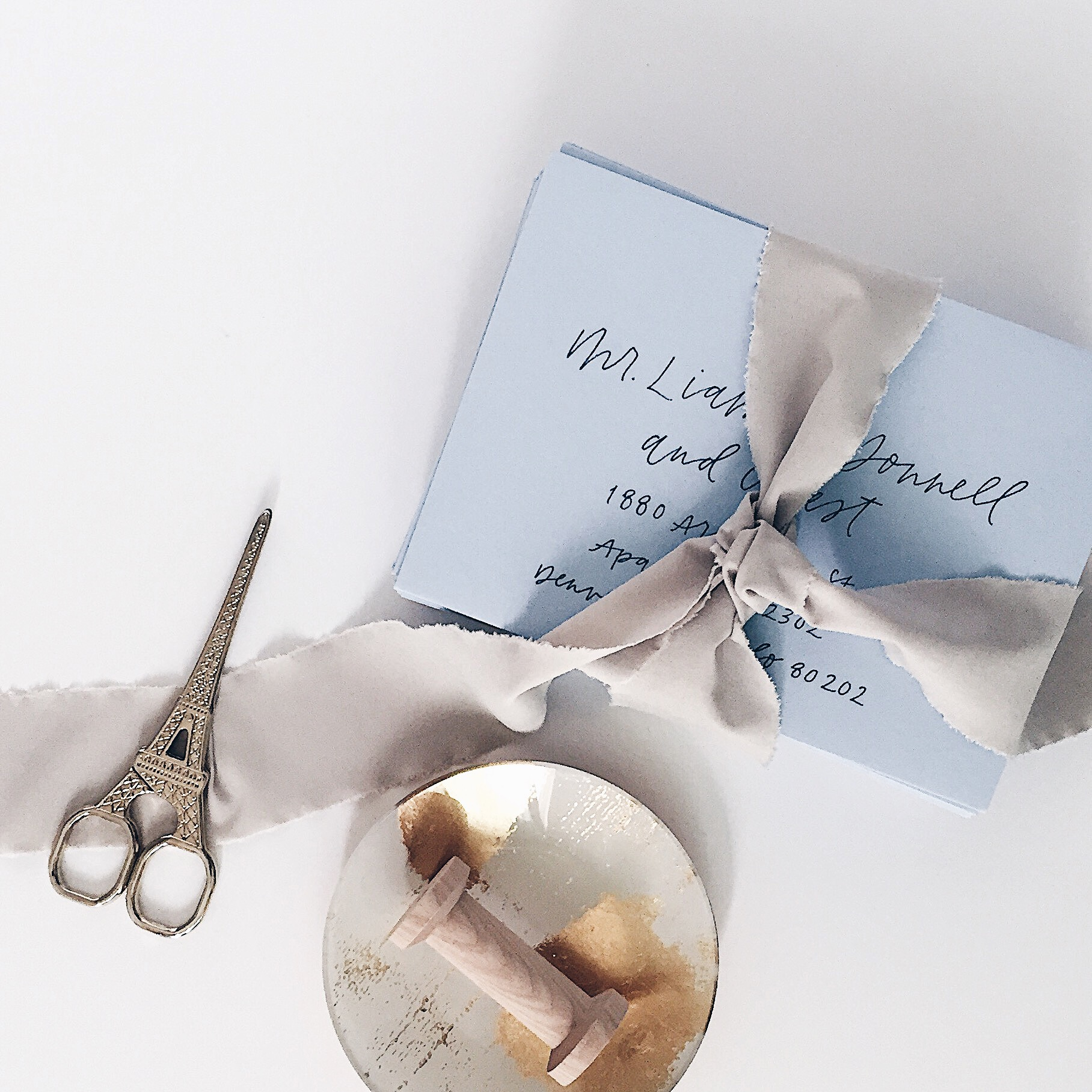 Photo, styling and calligraphy by Grace Niu Design