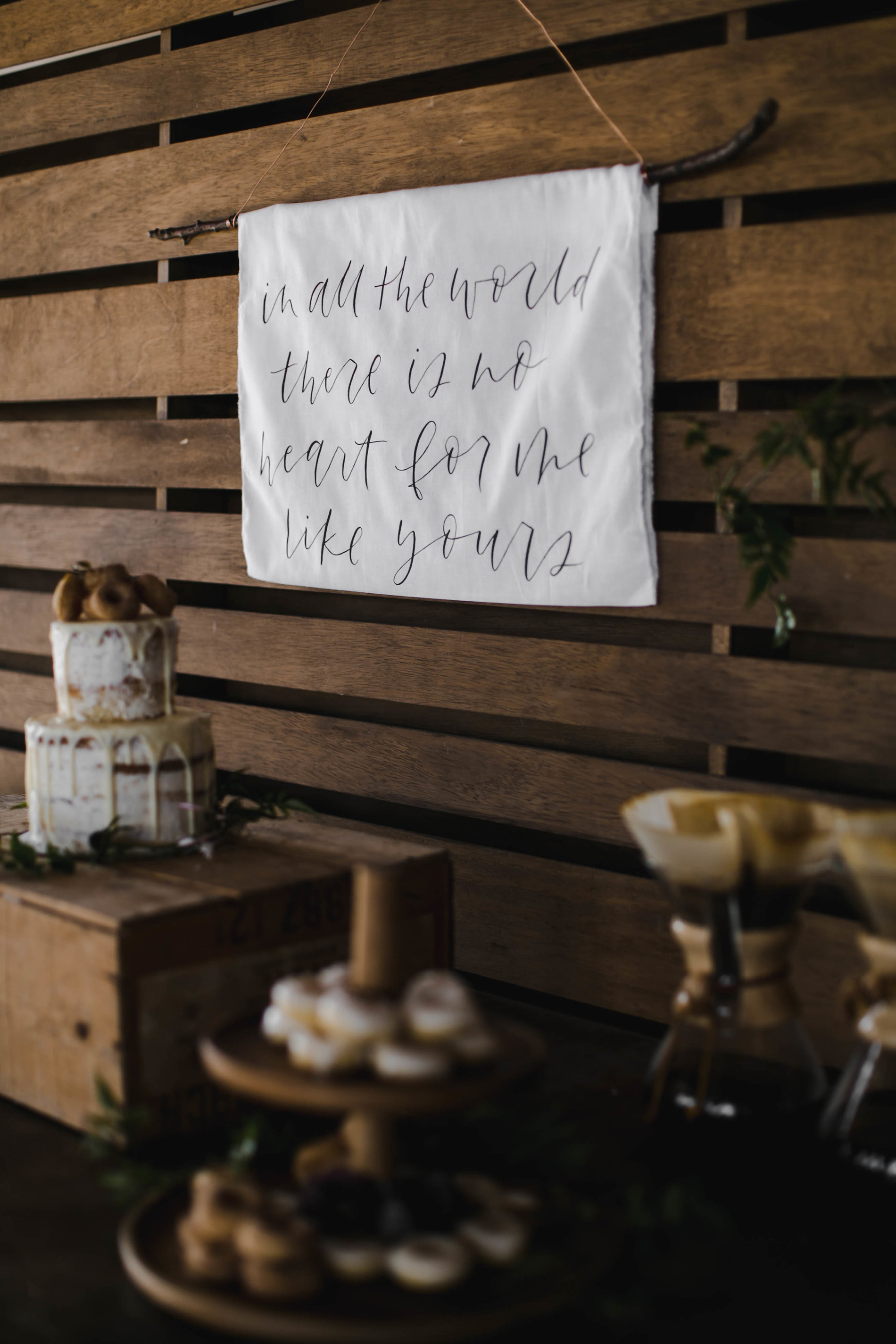 Photo by Melody Joy Co, Styling by All Dei Events, Desserts by Love Sugar & Grace, Calligraphy by Grace Niu Design