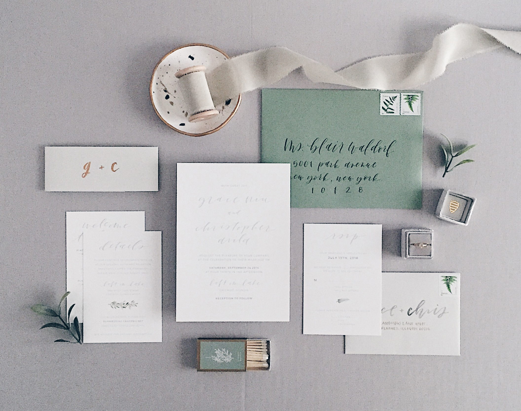 Design, calligraphy and styling by Grace Niu Design