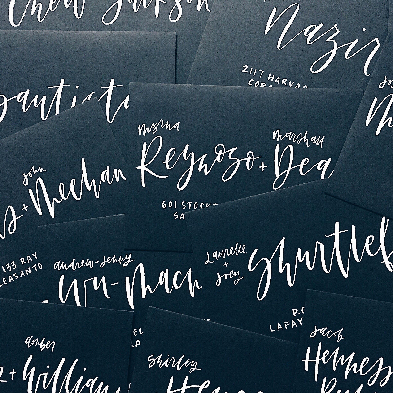 Grace Niu Design, Envelope Calligraphy