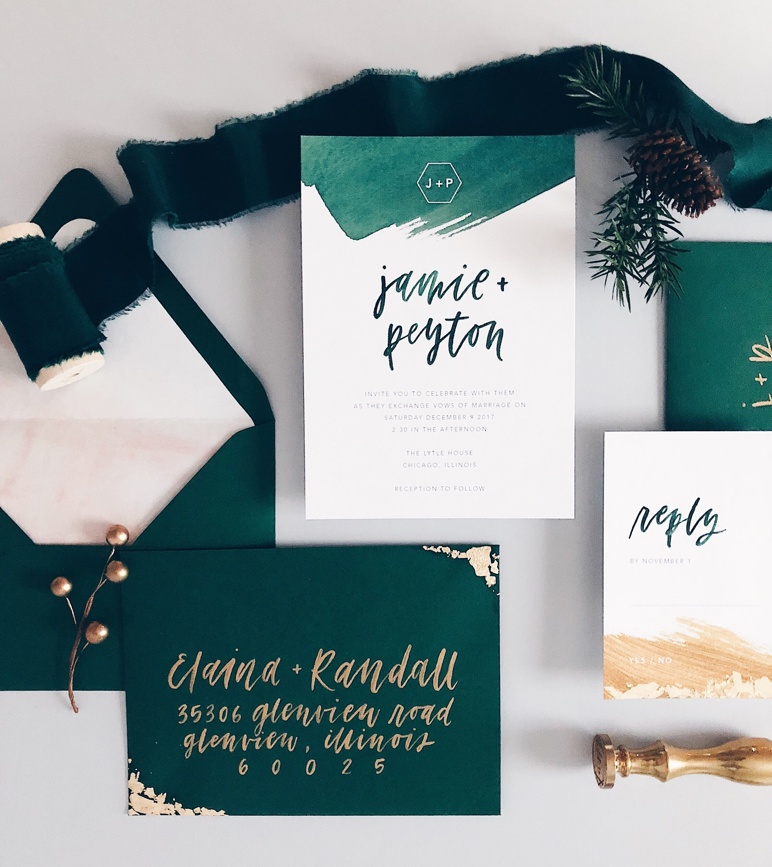 Grace Niu Design Custom Invitation Suite