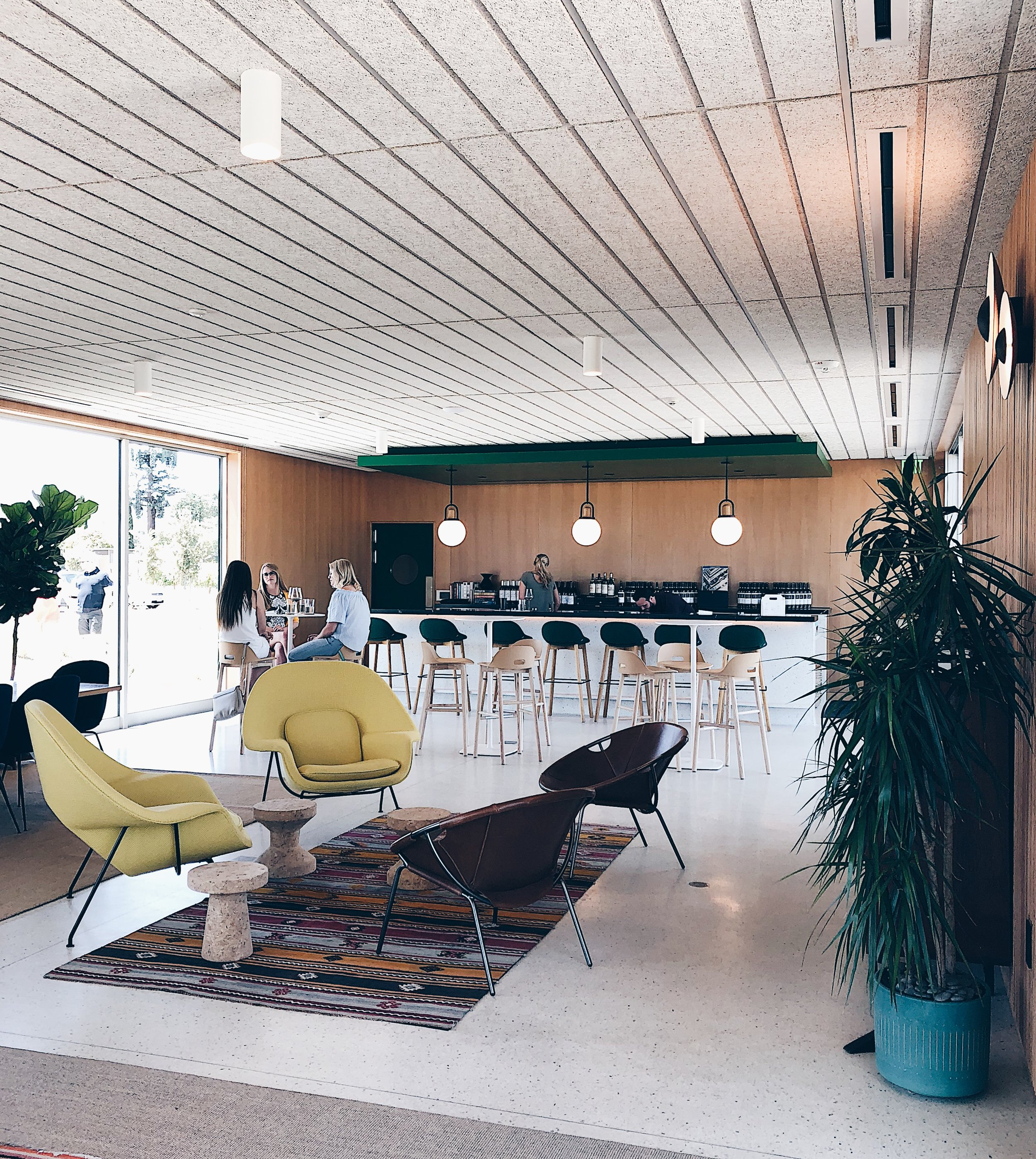 Ashes & Diamonds Winery - an amazing mid-century modern space