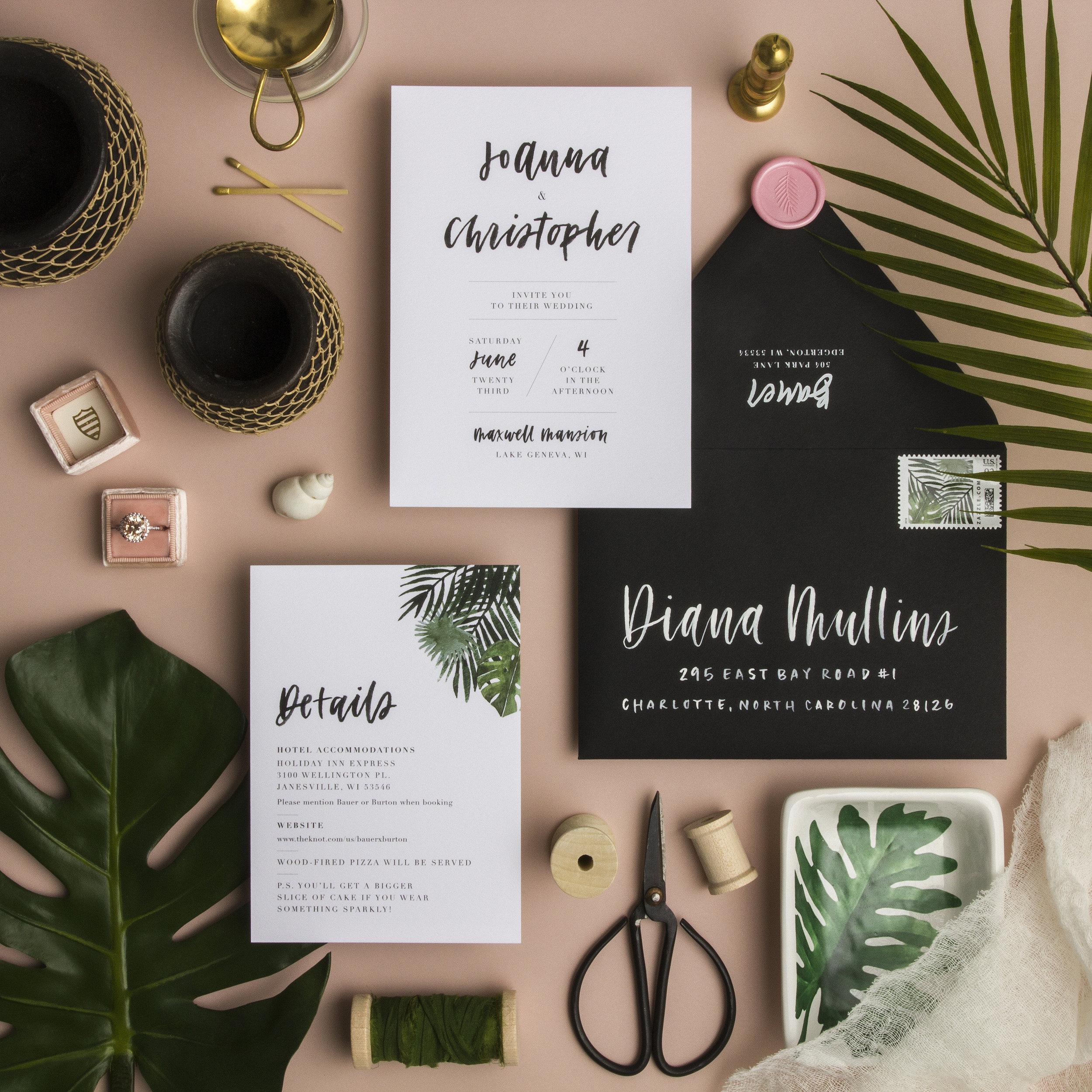 Grace Niu Design Custom Invitation Suite, Styling and Photo by Ramon Gomez