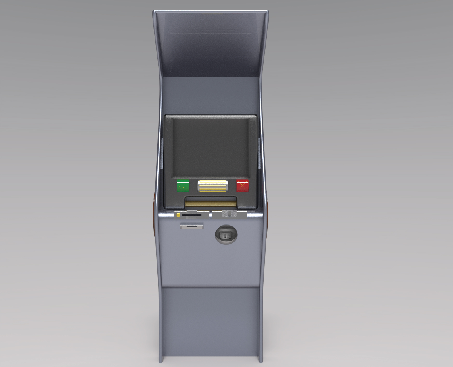 Front View of Parking Meter