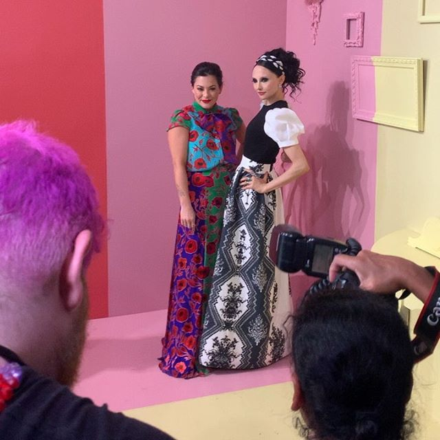 Incredible day at #NYFW @aliceandolivia presentation ✨ So excites for our collaboration launching September 16 @ all US @aliceandolivia stores and online @kushqueenshop #kushqueen #aliceandolivia