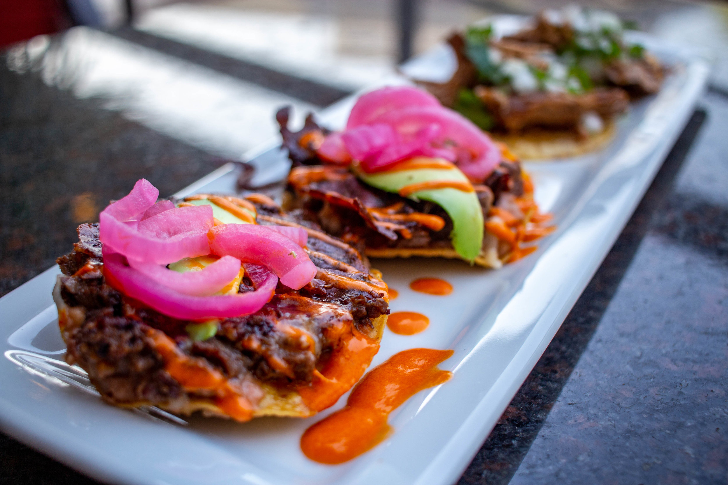 Duo of Volcanes and Carnitas Tacos from Palenque Grill