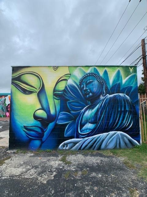 Buddha Mural at Dandyland Tattoo