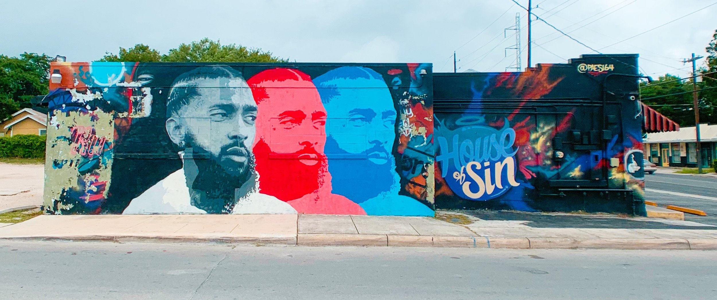Nipsey Hussle Mural at House of Sin by @Paes164