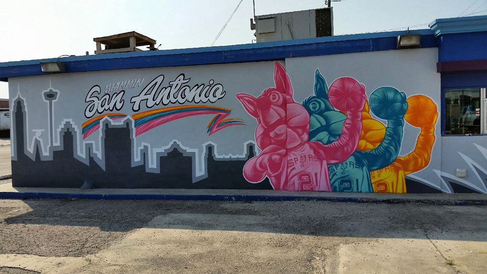 Spurs Coyote Mural by Christopher Montoya Courtesy of Best Tickets