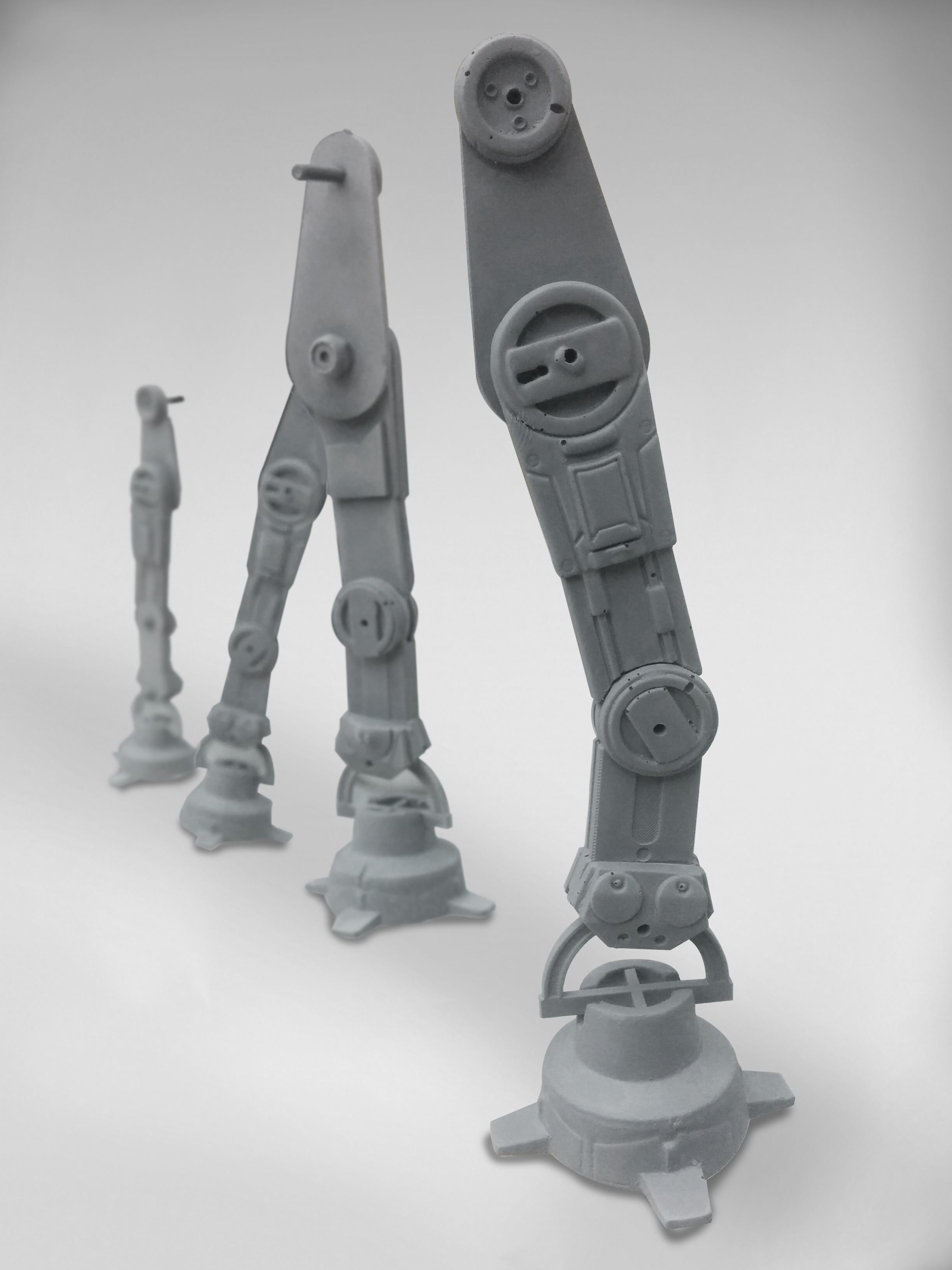 AT-AT legs assembled and painted