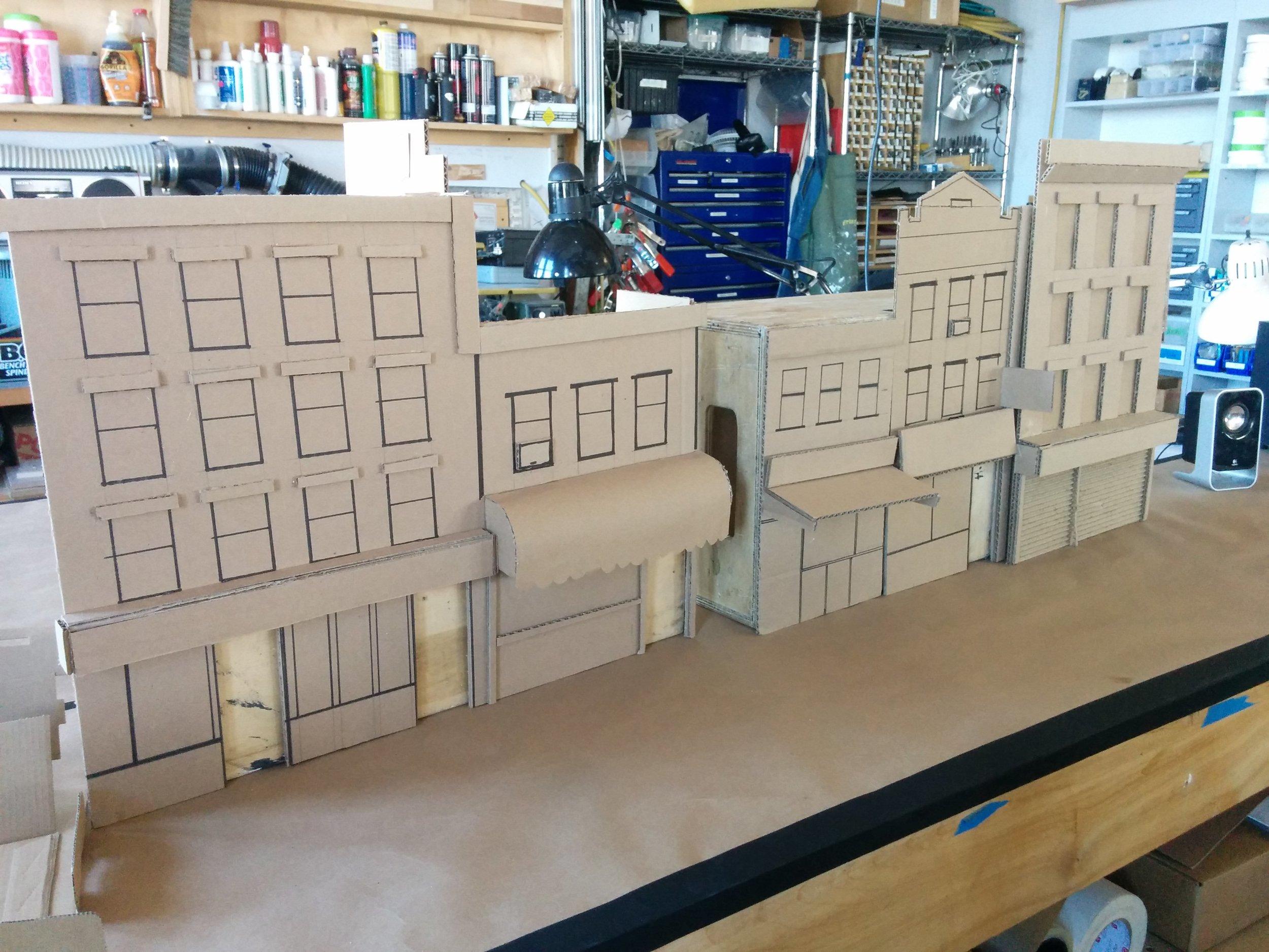Mock set created for the Brooklyn street scene for Hardboiled.