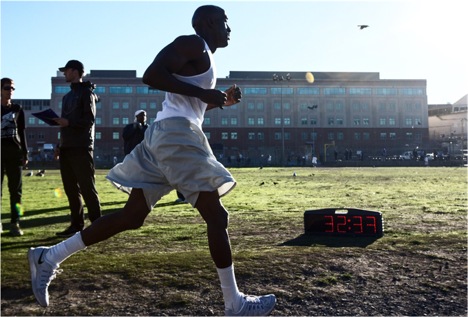"""Markelle Taylor, the """"Gazelle of San Quentin"""" is the club's current reigning champ, placing first at the marathon for 2 years in a row. He holds the club record for finishing in 3:16:07 in 2015."""