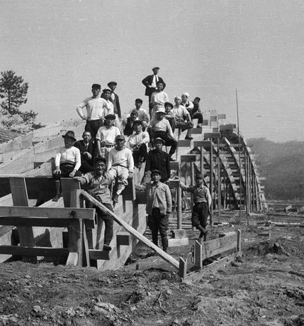 Showa period reconstruction of bridge: courtesy of Kintaikyo World Heritage Promotion Office