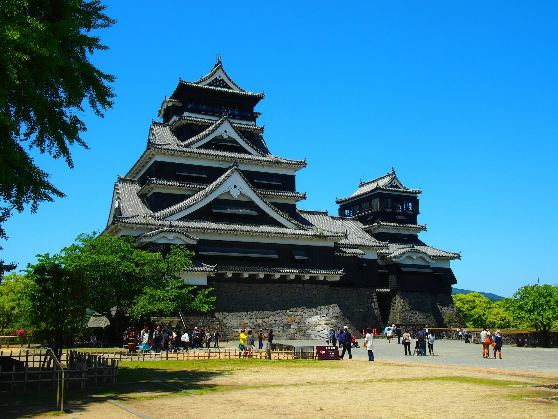 the 17th century castle town of kumamoto