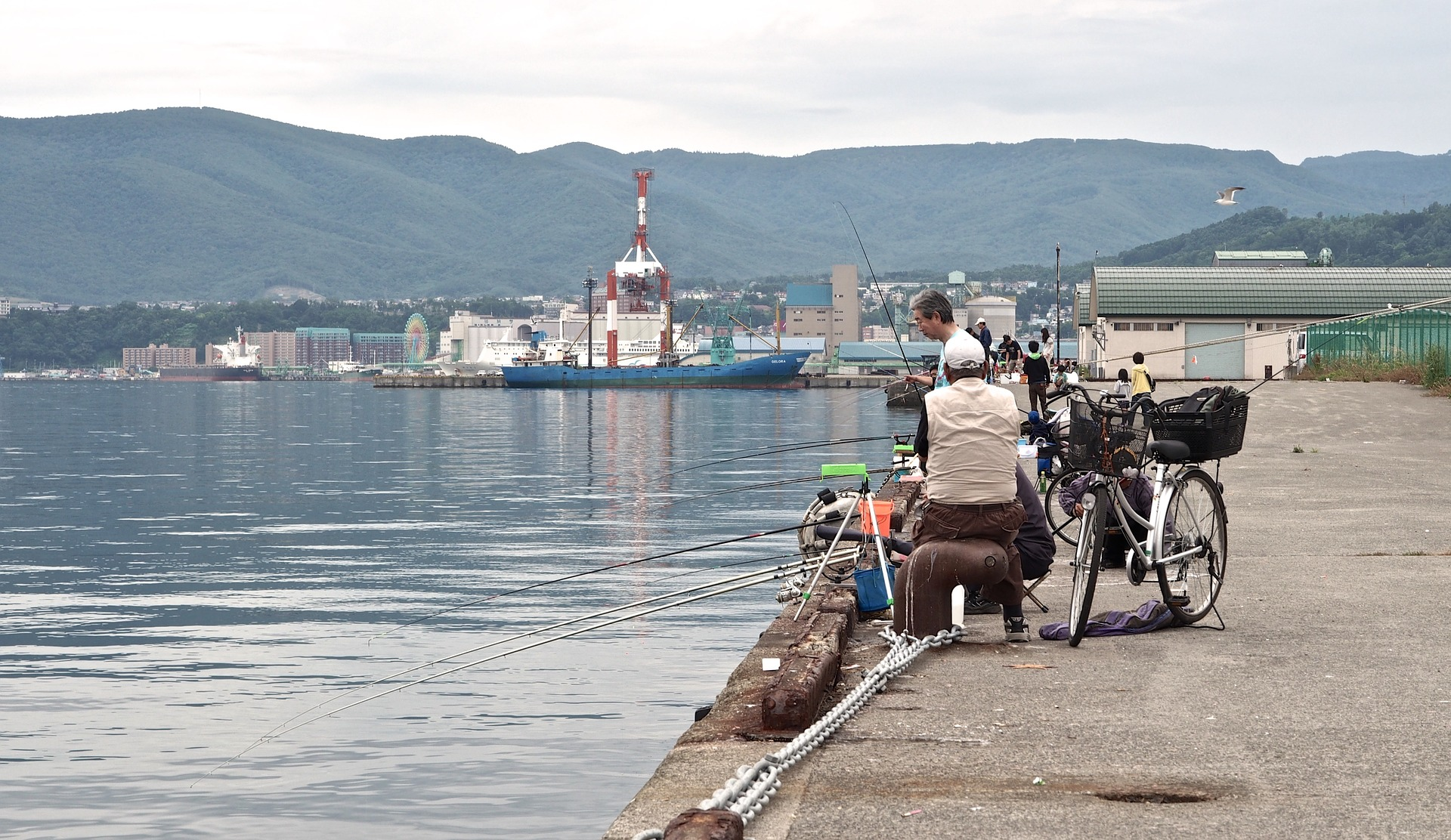 locals fishing in japan