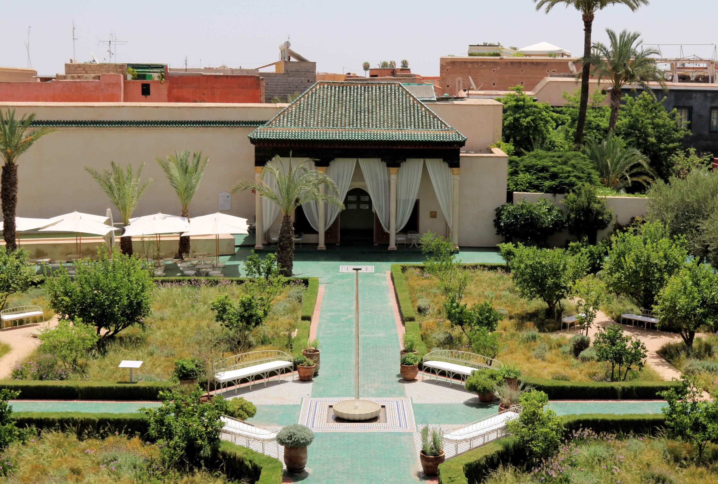 exploring marrakech - le jardin secret
