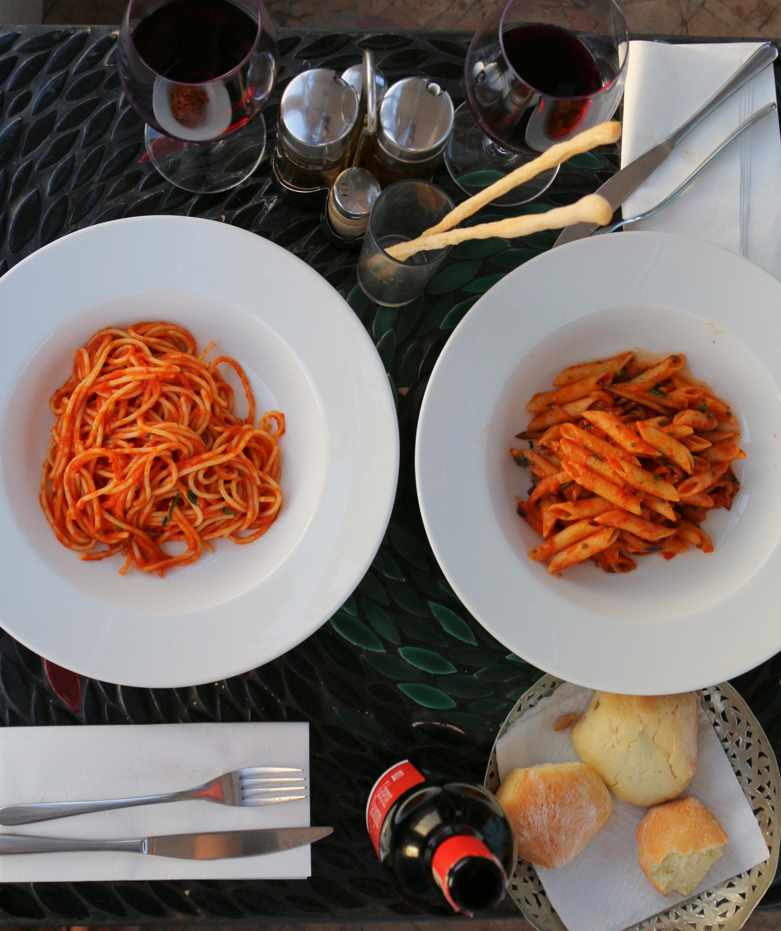 cafe arabe italian food in marrakech