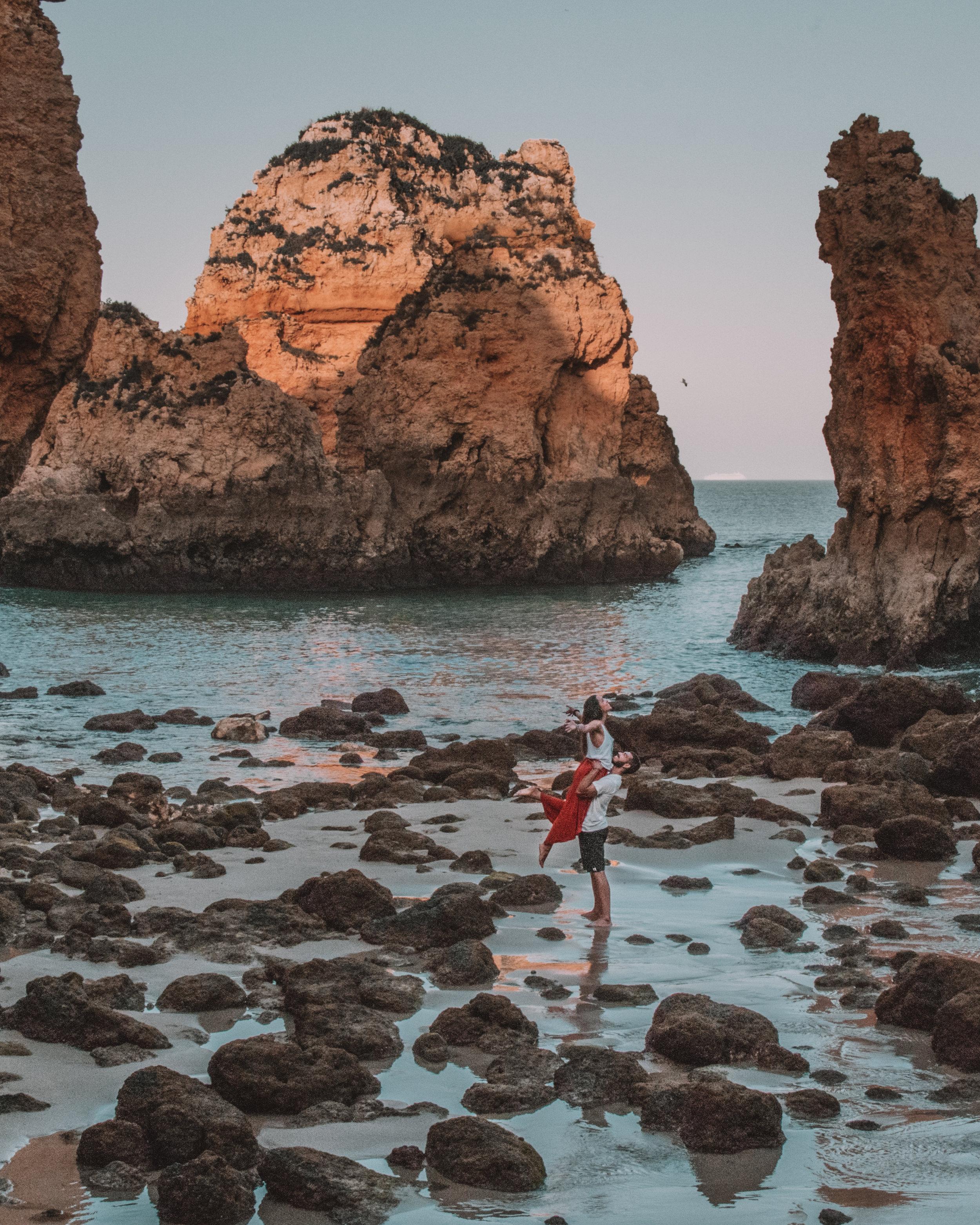 freeoversea algarve secret places travel couple explore best beaches sea sandy sunset photography blog