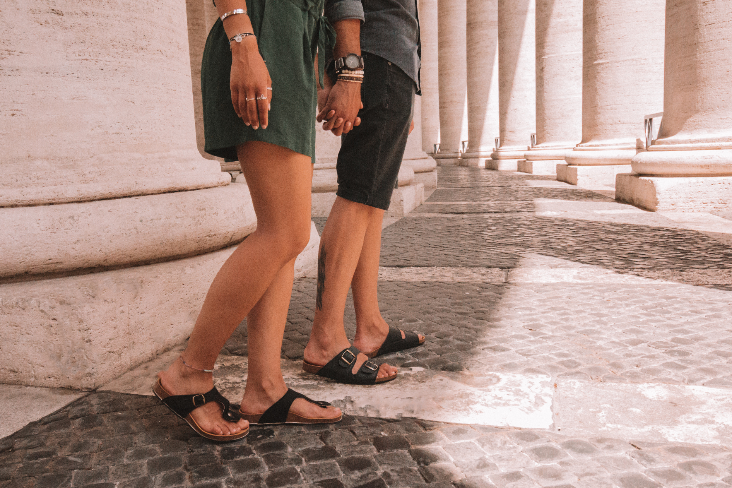 nae vegan shoes ethical fair trade sustainable rome vatican italy couple photography travel slow fashion sandals men woman