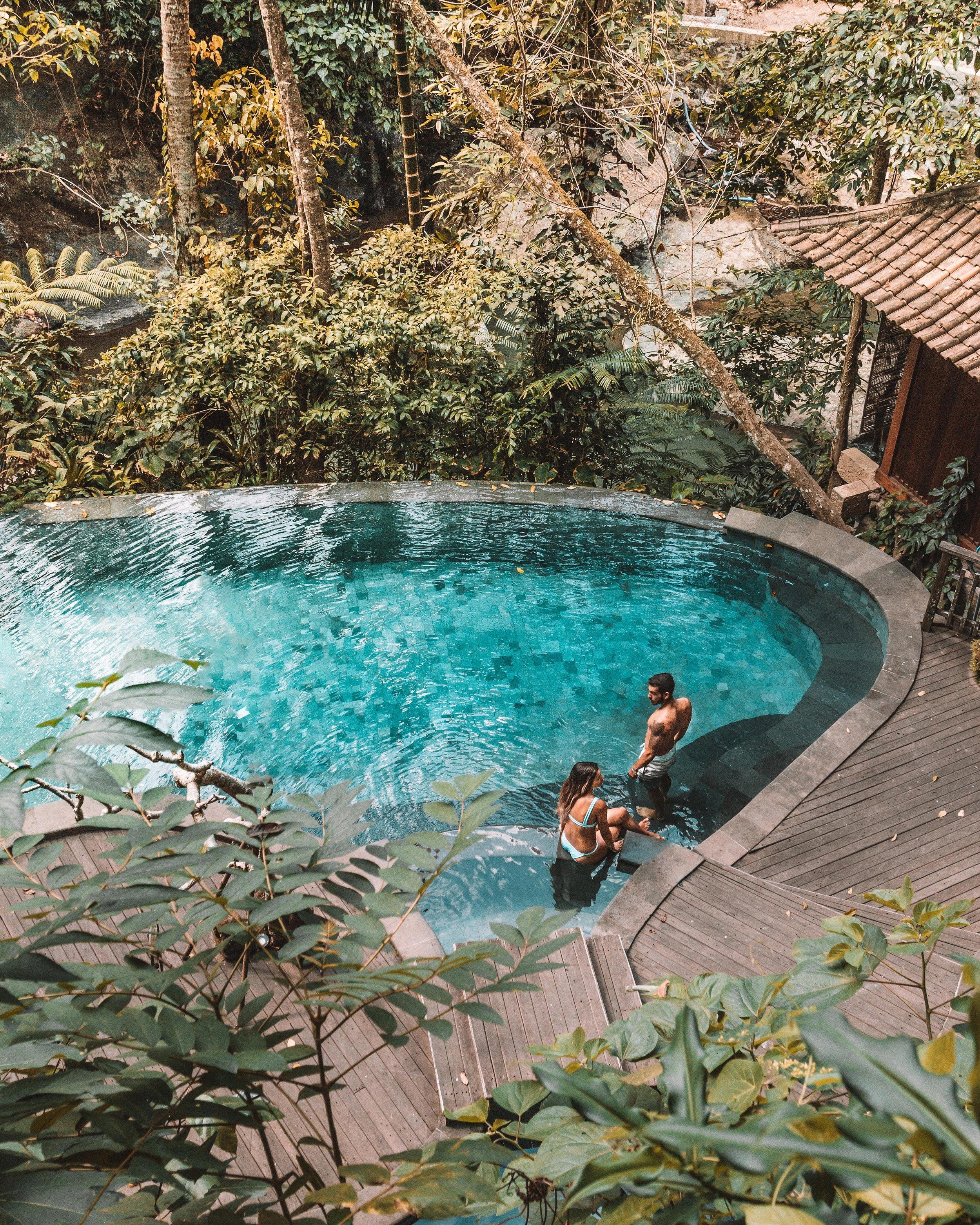 freeoversea travel couple hotels influencers photographers ethical eco resort svarga loka bali ubud beautiful places best