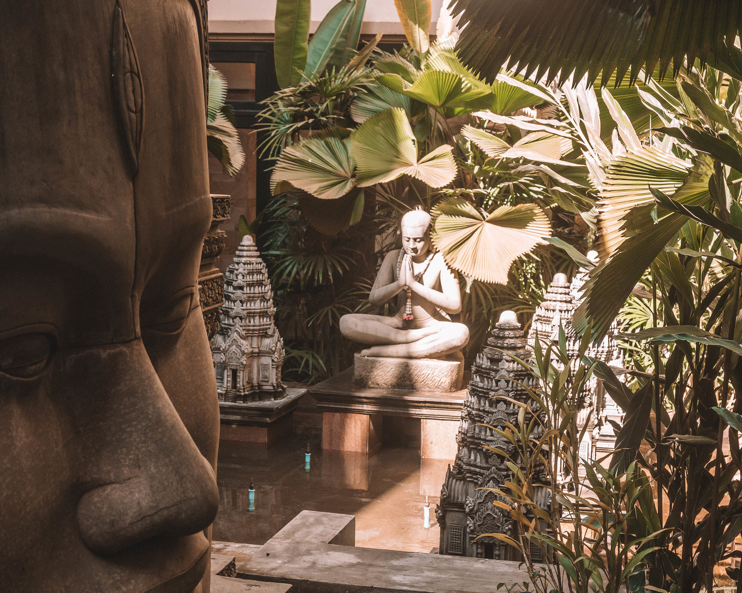 Cambodia Siem Reap Angkor Miracle Resort and Spa Buddha garden nature love peace serenity find your light outdoors khmer culture