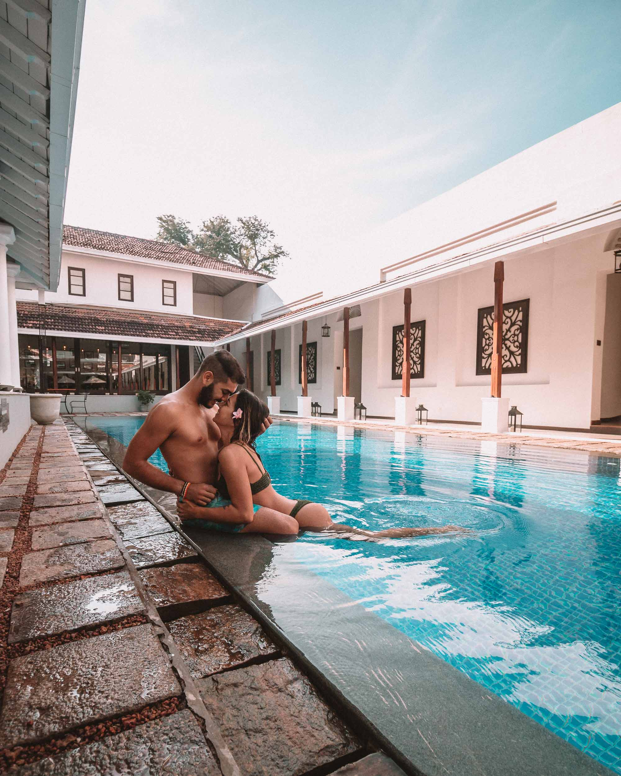 Residence by Uga Escapes swimming pool view couple goals boutique hotel Sri Lanka Colombo